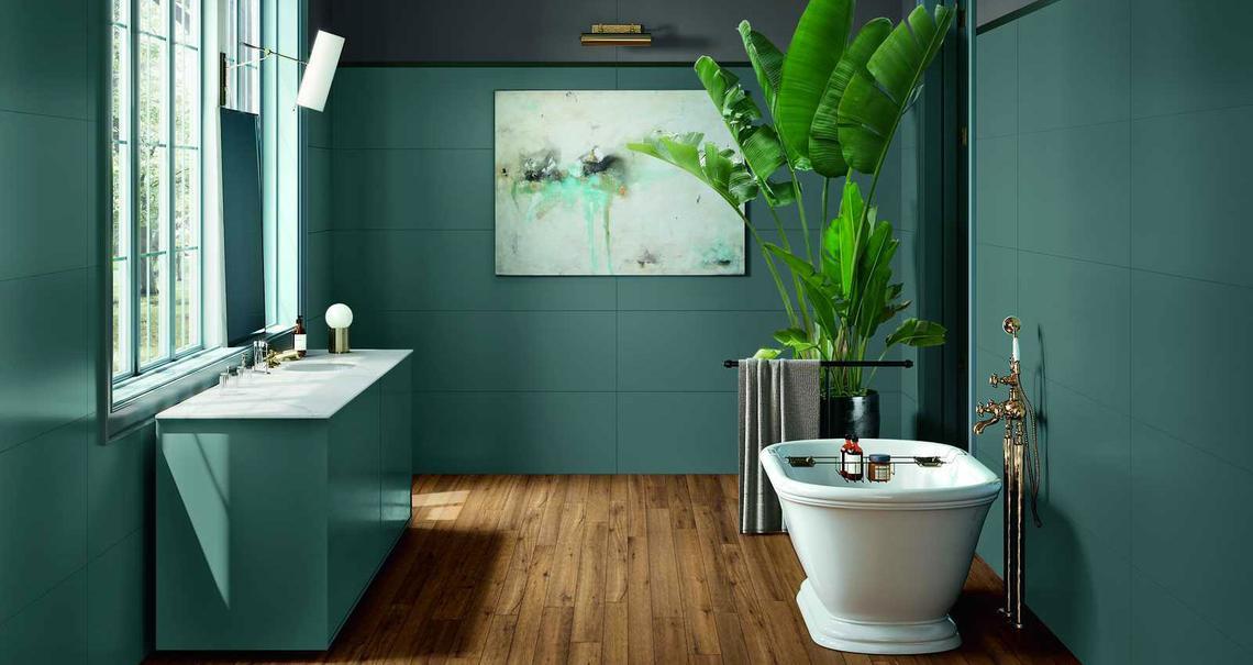 I colori di tendenza per il bagno
