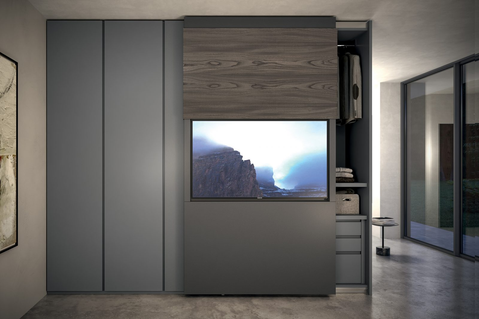 Stunning Armadi Con Tv Contemporary - Home Design - joygree.info