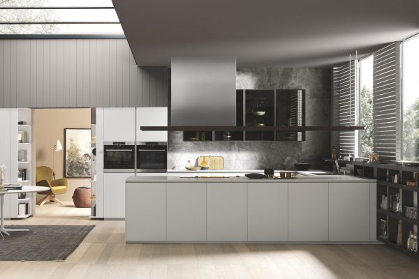 cucina penisola bianca