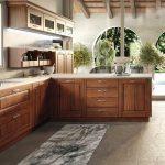 cucina angolare in legno