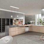 cucina bianca e acciaio