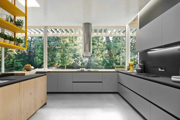 cucina in vetro opaco