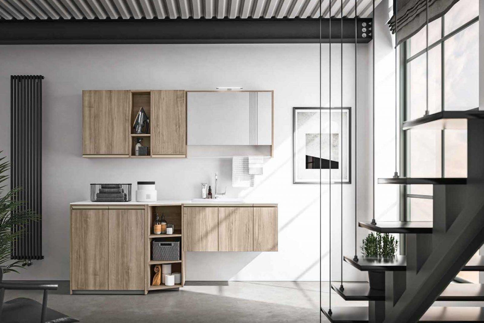 Mobile Bagno Con Colonna Lavatrice lavanderia , lavanderia domestica, stireria, locali di servizio