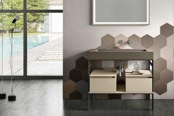 mobile bagno moderno a terra