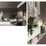 parete soggiorno moderna