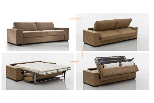 letto a scomparsa con divano